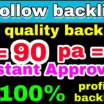high quality do follow profile instant indexing backlinks 2020