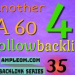 Another 4 DA 60 free dofollow backlinks: Ampleom.com backlink series 35