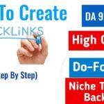 Create High Quality Dofollow Backlinks 2020 | Dofollow Backlinks | Backlinks |