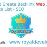 How to Create Web 2.0 Website List Backlinks - SEO