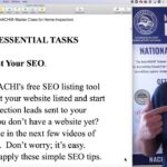 Master Class for Home Inspectors: Step #1, Boost Your SEO