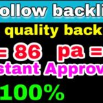 best do follow profile instant indexing backlinks 2020