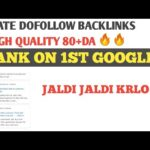 Free High Quality DoFollow Backlinks | Create Backlinks for Blog website | Rank Fast On Google |