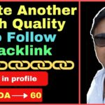 How to create do follow backlink from High DA 60 Websites [in Hindi]
