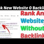 Rank New Website In Google First Page Without Backlinks 2020 | Rank Website Without Backlinks 2020