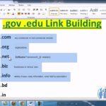 87   gov  edu link building