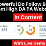Create Do Follow Backlink In Content From High DA PA Website With Live Demo [in hindi]