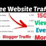 Free Website Traffic | Get Free Organic Google Blogger Website Traffic | Increase Blogger Traffic |