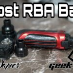 GeekVape Aegis Boost RBA Base Build & Wick Tutorial