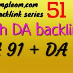 Get DA 91 + 80 backlinks free: Ampleom.com backlink series 51
