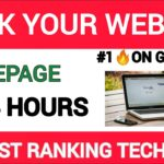 Homepage SEO Optimization | How to Rank Website Homepage No 1 on Google First Page | SEO Tips