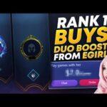 RANK 1 BUYS DUO BOOST FROM EGIRL | League of Legends