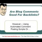 are blog comments good backlinks?