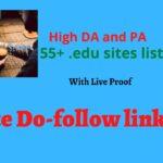 edu sites list for do follow backlinks -  2020