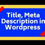 how to add Title, meta description in wordpress homepage (SEO)