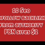 10 Seo dofollow backlinks from authority PBN sites $2