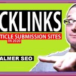 Backlinks For Beginners 2020 : Article Submission Backlinks