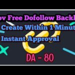 Create Free .GOV Dofollow Backlink Instant Approval (DA 80)