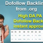 Dofollow Backlinks from .org website how to create High DA PA Dofollow BackLinks instant approval
