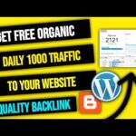 Get Free Traffic For Your Blogger And Wordpress Website And Backlinks In Hindi