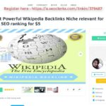 Get Most Powerful Wikipedia Backlinks Niche relevant for improve SEO ranking On