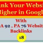 High Authority Quality Backlink - DA 92 ,PA 76 | 2020 | Techinfo academy