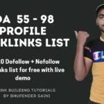 How to create Dofollow Backlinks | DA 55 to DA 98 Free Backlinks list | Dofollow Backlinks 2020