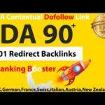 I will swiss,german,swedish,italian french dofollow da 90 seo backlinks 301 redirect