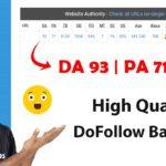 यह Popular Site फ्री मै दे रहा है High Quality DoFollow Backlinks
