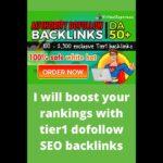 I will boost your rankings with tier1 dofollow SEO backlinks website ranking seo marketing google