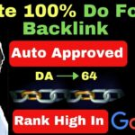 Create 100% do follow Backlinks Instant approved website [in Hindi]
