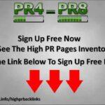 High PR Backlinks - The Best Place To Get PR4 - PR8 Backlinks