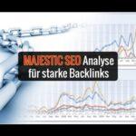 Majestic SEO Tutorial - Backlink-Analyse von Domains