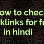 Backlink kaise check karein free me