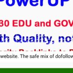 Find 50 PR9 + 15 EDU and Links Manually to Boost Google Ranking of Website