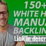 I will 150 SEO backlinks white hat manual link building serv