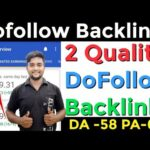 Instant Approval Dofollow Backlinks 2020 | Make DoFollow Backlinks | Create DoFollow Backlinks |