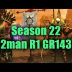 Season 22 GR143 2man Rank 1 EU ft. Rob (Bone Spear Necromancer + zBarb)