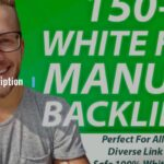 I will 150 SEO backlinks white hat manual link building service for google top ranking
