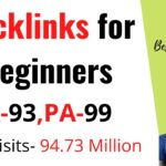 Backlinks for beginners//How to build  BACKLINKS for beginners a new website