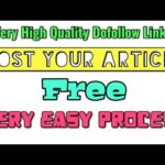 Create High Quality Dofollow Backlinks Free Instant Approval