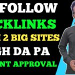 High Quality Do Follow Backlinks Instant Approval From High DA PA Sites 2020