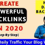 How to CREATE BACKLINKS in 2020 (Step-by-Step) | Get 5k Daily Traffic Your Website | 2020 |