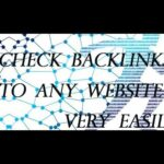 How to check backlinks to any website