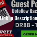I will publish a guest post on my dr88 blog with dofollow backlinks