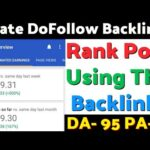Instant Approval High Quality DoFollow Backlinks | Make Do Follow Backlinks | Create Backlinks 2020
