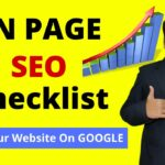 On Page SEO Tutorial | On Page SEO Checklist for Higher Google Ranking