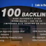 Rank higher in google with 110 high authority SEO backlinks