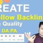 how to create dofollow backlinks (High DA PA)how to create backlinks high quality backlinks in hindi