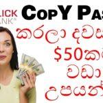 Copy & Paste කරලා ලේසියෙන්ම දවසට $50ක් හොයන්න මෙන්න ක්රමේ! | Copy paste and earn money!!